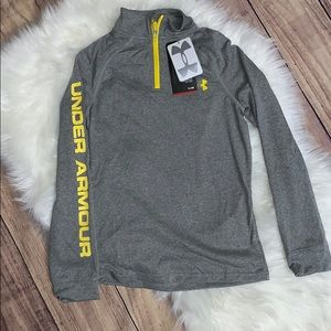 NWT YS Under Armour 1/4 zip pull over